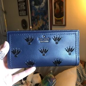 Kate Spade Patterson Embellished Wallet BlazerBlue